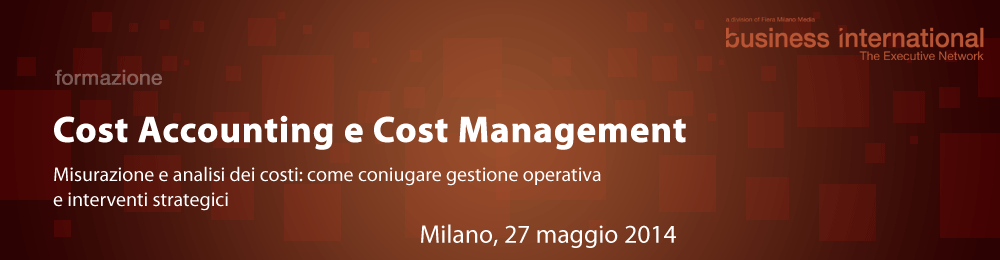 Cost Accounting e Cost Management