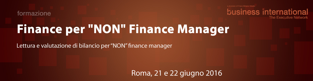 "Finance per ""NON"" Finance Manager"