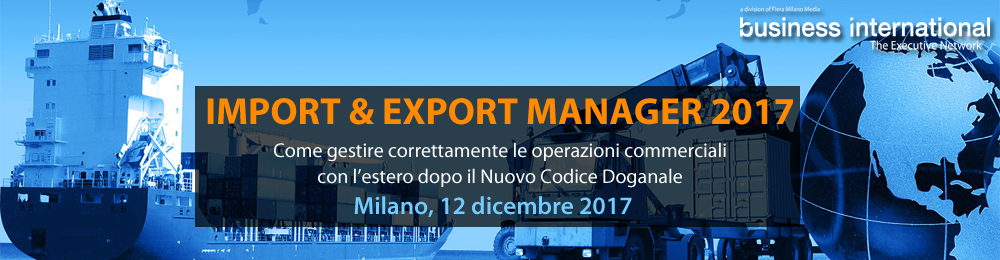 Import & Export Manager 2017