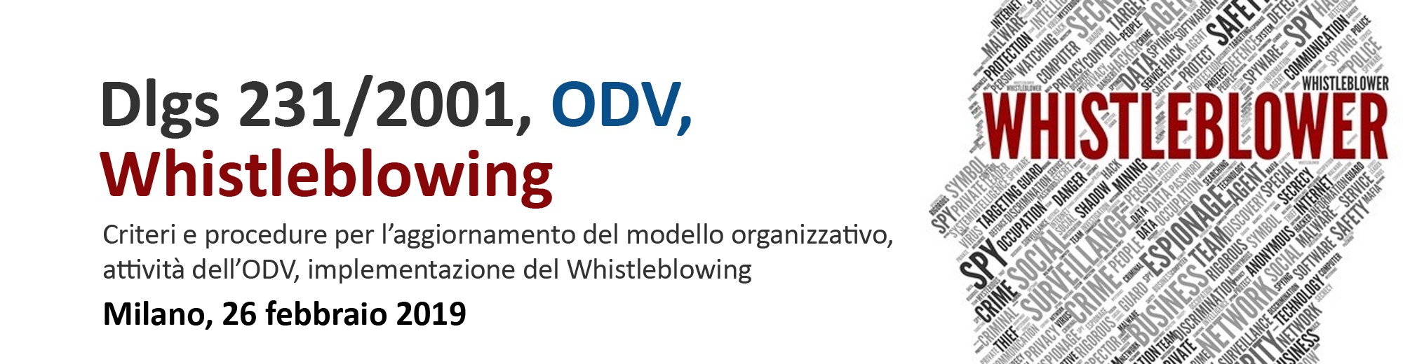 Dlgs 231/2001, ODV, Whistleblowing